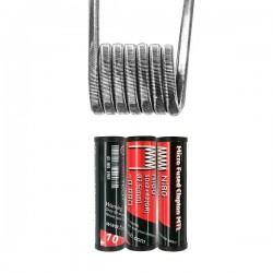 Micro Fused Clapton MTL Ni80 30*2+42GA 0.88O (10pcs) - Fumytech