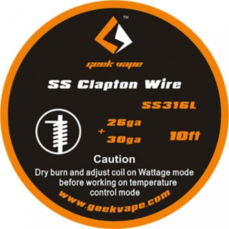SS Flat Clapton Wire ss316L (26GAx18GA) + 32GA