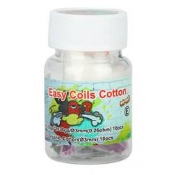 Easy Coils Coton (20pcs) - LVS -N80, 0.3ohm 26GAx2+38GA